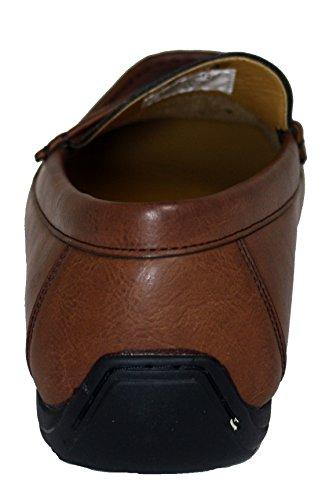 Faranzi Mens F41222 Brown Slip-On Driving Shoe SY MD0CT9