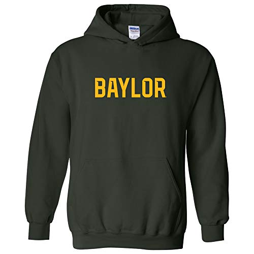 AH01 - Baylor Bears Basic Block Hoodie - Medium - Forest