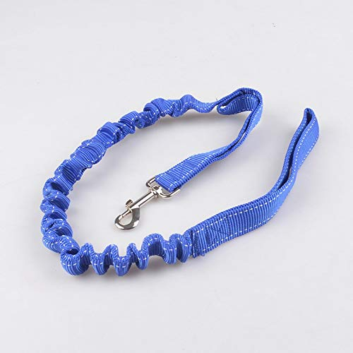 bluee Pet Online Pet supplies cushioning telescopic traction rope large and medium dog nylon reflective dog chain,bluee
