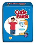 Cuties Refastenable Training Pants- Boys (Case) (4T to 5T (38+ lbs)- 4 Bags of 19)