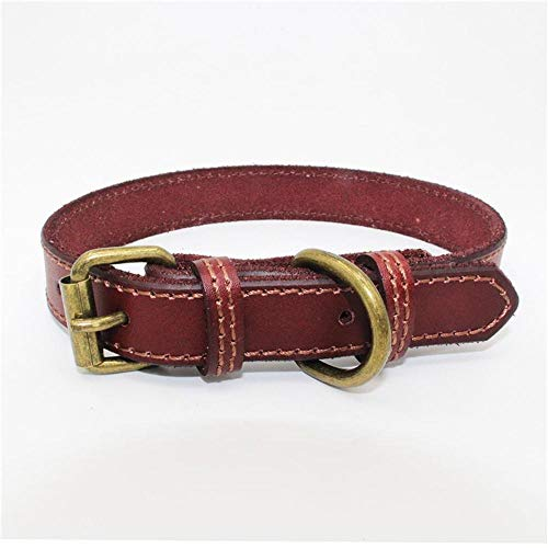 Adjustable Leather Dog Collars Pet Collars Charm Necklace Collar for Little Dogs Cat Collars Pet Supplies Exquisite Pet Dog Coll Burgundy XXS Dc 40 Dog Tracking