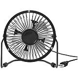 Kikkerland Black USB Desk Fan