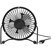 Kikkerland Black USB Desk Fan