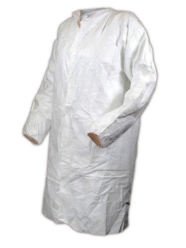 Magid CC111M EconoWear Tyvek Disposable Lab Coat, Medium, White (Case of 30) by Magid Glove & Safety (Image #1)