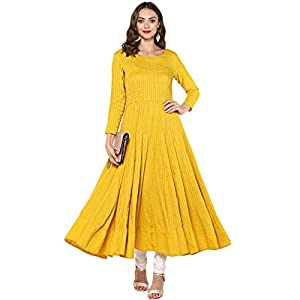 Indian Virasat Women's Cotton Anarkali Kurta