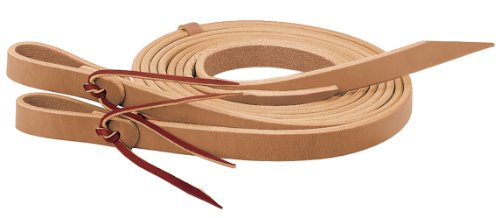 Weaver Leather Horizons Split Rein, 5/8-Inch x 8-Feet, Golden Brown (Water Loop Split Reins)