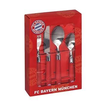 i.Geschenkkarton 4-teilig FC Bayern M/ünchen 14577 Besteck-Set