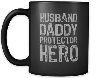 e5cdb9e8d Image Unavailable. Image not available for. Color: Husband Daddy Protector  Hero Mug Black Father's Day Birthday Gift Mug | Dad ...