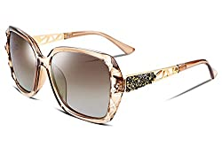 Classic Polarized Sunglasses With Sparkling Frame