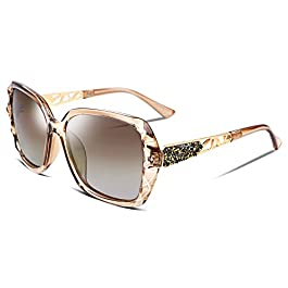FEISEDY Classic Polarized Women Sunglasses Sparkling Composite Frame B2289