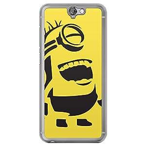 Loud Universe HTC One A9 Minion B Printed Transparent Edge Case - Yellow