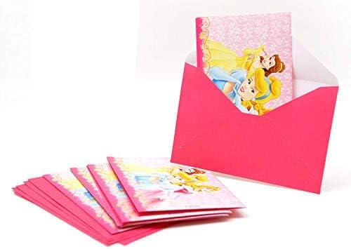 ALMACENESADAN 2540; Pack 12 Invitaciones Disney Princesas con sobre; 3 Princesas; Ideal para Fiestas y cumpleaños