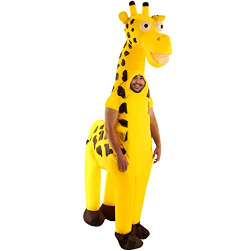 (Inflatable Giraffe Costume Adults Giant Animal Suit Funny Unique Fancy Dress)
