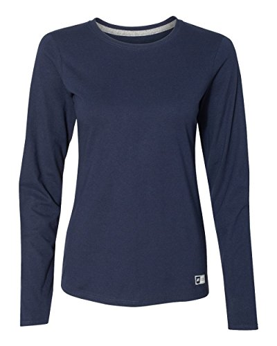 Russell Athletic Women's Essential Long Sleeve Tee, Navy, - Athletic Shirts Tee Russell