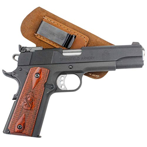 - Relentless Tactical The Ultimate Suede Leather IWB Holster Right Handed - Made in USA - Fits 1911 Style Handguns - Kimber - Colt - S & W - Sig Sauer - Remington - Ruger & More - Brown RH