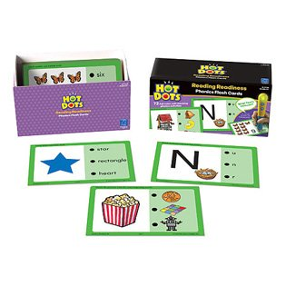 Hot Dots Phonics Program Set 1 Learning Materials/T&G Readiness Multimedia Ei-2780 Learning Resources