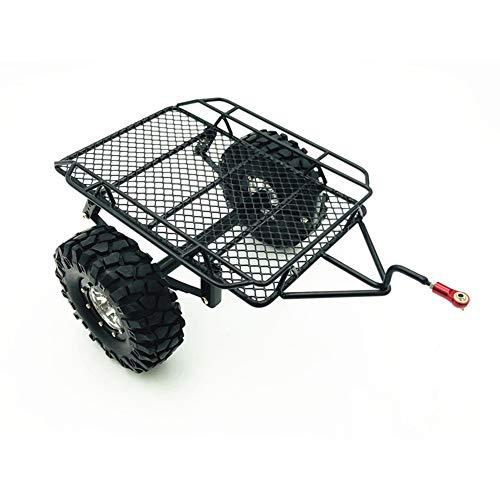 (Alician DIY Simulate RC Crawler Metal Drag Hitch Mount Tow Trailer for 1/10 RC CAR D90 SCX10 CC01 TRX-4)