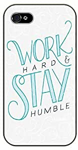 iPhone 5 / 5s Bible Verse - Work hard and stay humble - black plastic case / Verses, Inspirational and Motivational