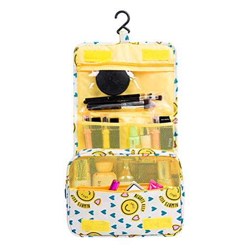 Travel Hanging Toiletry Bag for Men & Women, Toiletries & Shave Travel Organizer, Compact Compartments for All You Need, Internal Mesh Pockets, Water Resistant, Yellow