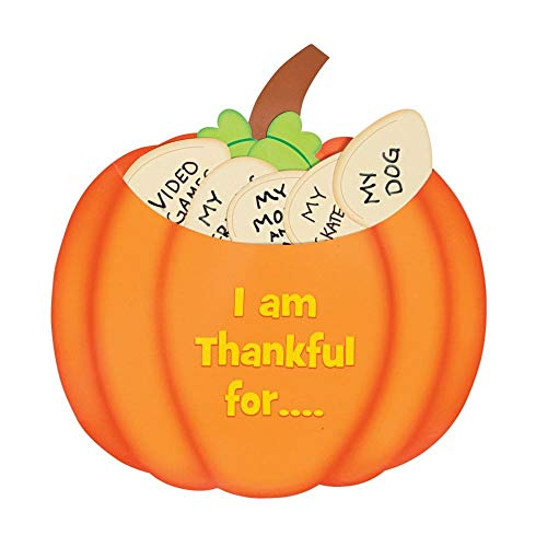 School Age Crafts For Halloween (Paper Thankful Pumpkin Craft Kit (1 Dozen) - Halloween/Thanksgiving/Fall)