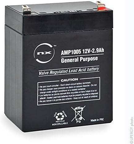 NX - Batería sellada de plomo ácido (12 V, 2,9 Ah, T1)