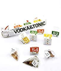 Vodka Tonic gift set pack 6 Infusions pack with 3 different flavours. Perfect gift  3 box with 2 units x 3 flavors, Caribbean and Pineapple flavor , Mojito and Lemon flavor , Peach and Orange flavor. Includes Instructions information