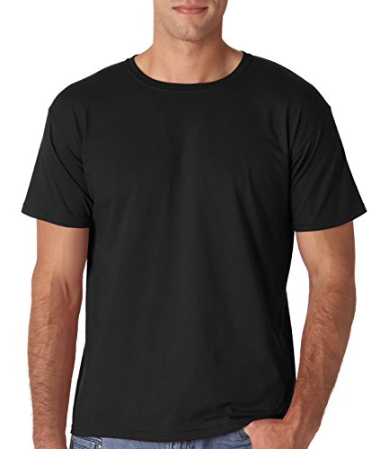 - Gildan Men's Softstyle Ringspun T-shirt - Large - Black