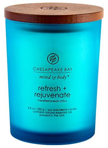 Chesapeake Bay Candle Scented Candle, Refresh + Rejuvenate (Mediterranean Citrus), Medium