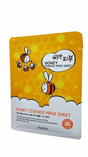 4 Mask Sheets of Esfolio Pure Skin Honey Essence Mask Sheet. Enriched with honey extract and various nutritive components to deliver abundant moisture and nourishment. (25 ml/ - Candy List Sour Of