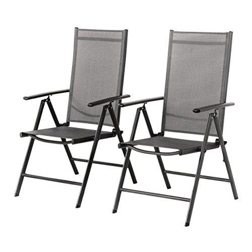 Grand Patio Conjunto de 2 sillas Plegables, Ajustables, Impermeables y Resistentes al Sol,
