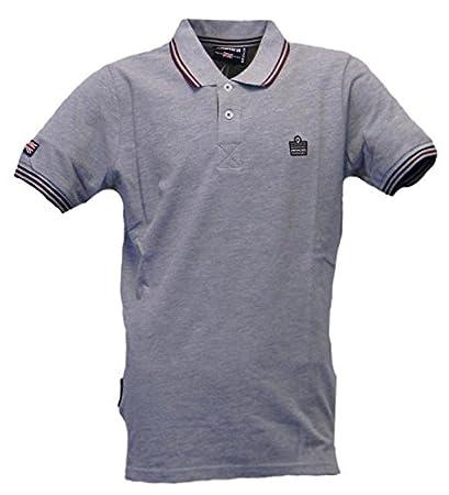 Admiral Polo Piquet Sportswear Logo Man, Gris Melange (Grey ...