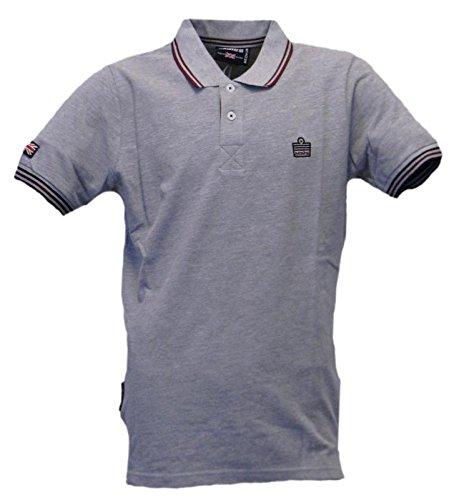 Sportswear Admiral grigio 036 Shirt Melange Logo Grigio Miscela Man Polo qqaRwECP