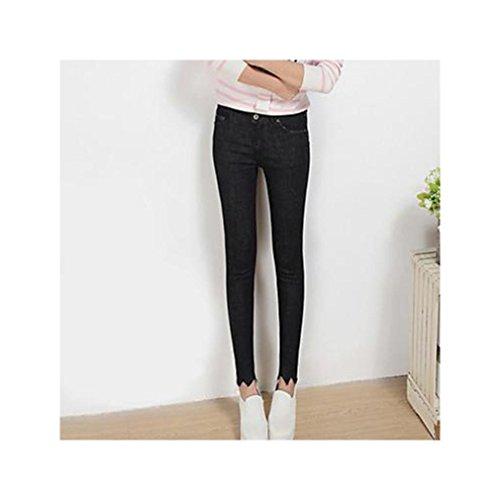 ストリートファッションジーンズパンツコットンマイクロエラスティック