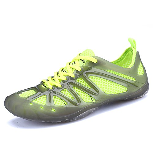 Hole Sports Non Water Summer Driving Beach QLVY Slip Yoga Unisex Shoes mesh Lightweight Shoes Green Sandals Removable Xq17wgwp