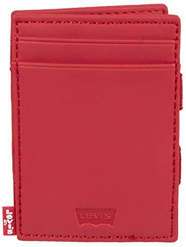 Levi's Men's Petite RFID Slim Card Case Wallet, red, One Size