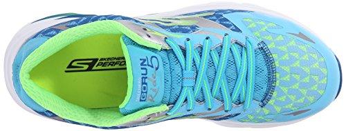 SkechersGo Run Ride 5 - Zapatillas de running mujer Blue/Lime