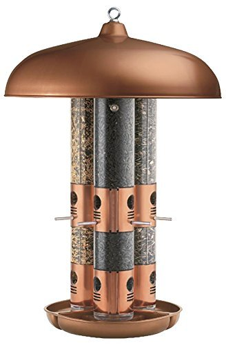2 x Perky-Pet 7103-2 Copper Finish Triple Tube Bird - Bird Copper Triple Feeder Tube