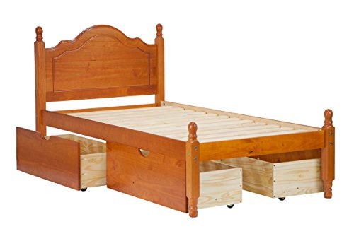 Palace 100% Solid Platform Bed 1434, Size, Honey Pine 12 Trundle, Drawers, Sold Separately.