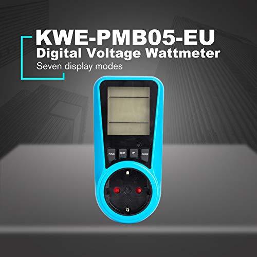 Kwe Pmb05 Conector Hembra Voltaje Digital Vatímetro Consumo De Energía Vatio Medidor De Energía Analizador De Electricidad De Ca Monitor Monitores De Alimentación Eléctrica Bricolaje Y Herramientas