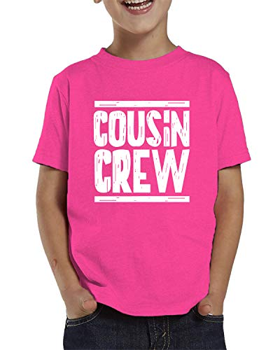 SpiritForged Apparel Cousin Crew Toddler T-Shirt, Pink 5T/6T