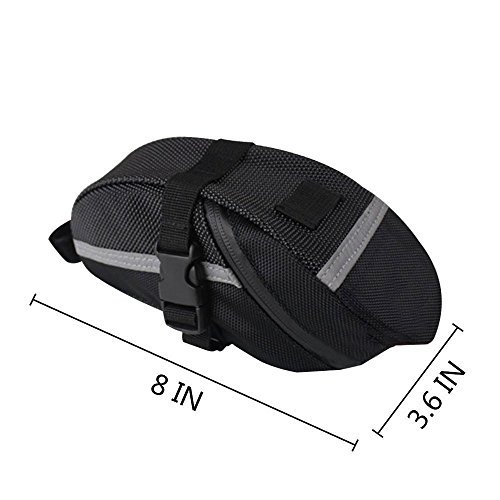 Waterproof Bike Saddle Bag Bike Seat Bag & Frame Bags Phone Mount Holder Cellphone Below 5.5 Inch with Touch Screen, Bicycle Pack Cycling Seat Bag Bike Handlebar Toolkit Bag (Seat Pack)