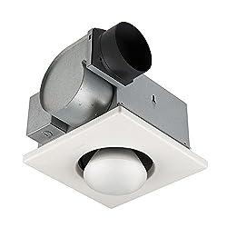 Broan-Nutone 162 Bulb Heater and Fan, Energy-Saving Bulb Infrared Type IC Ceiling Heater, White, 250-Watt, 4.0 Sones, 70 CFM