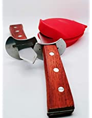 Oyster Shucker Knife, clamp Combo Steel, sharpened, Silicone Glove, Oyster Knife Opener