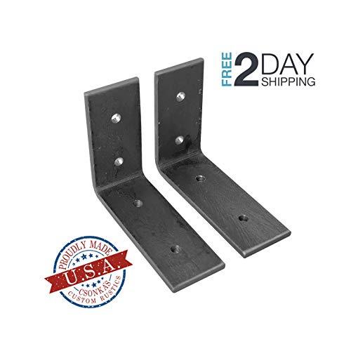 2 Pack - 4L x 3H Angle Shelf Bracket, Iron Shelf Brackets, Metal Shelf Bracket, Industrial Shelf Bracket, Modern Shelf Bracket, Shelving