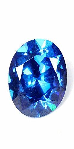 6.00Cts LAB CREATED BLUE TOPAZ OVAL CUT LOOSE GEMSTONE CUBIC ZIRCONIA 09 X 11MM BUY1 GET1 (Cts Lab)