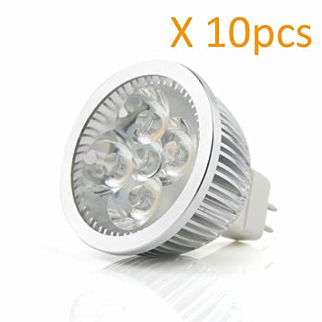 Ossun @ 10Pcs X Super luminoso MR16 (12 V) 4 W foco bombilla LED
