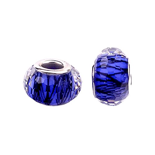 Multi Blue Glass Bead - 6