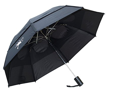 GustBuster Metro 43-Inch Automatic Umbrella, Rain Drops Edition