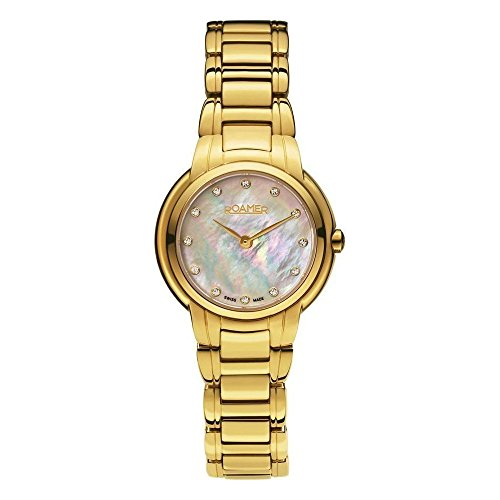 Roamer Women's Swiss Dreamline Grande Classe 30mm Steel Bracelet & Case Quartz Watch 652856-48-89-60
