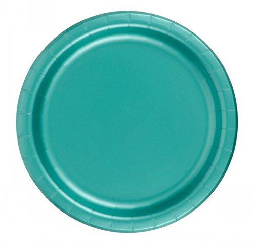 72 Teal Desert / Cake Paper Plates 7in